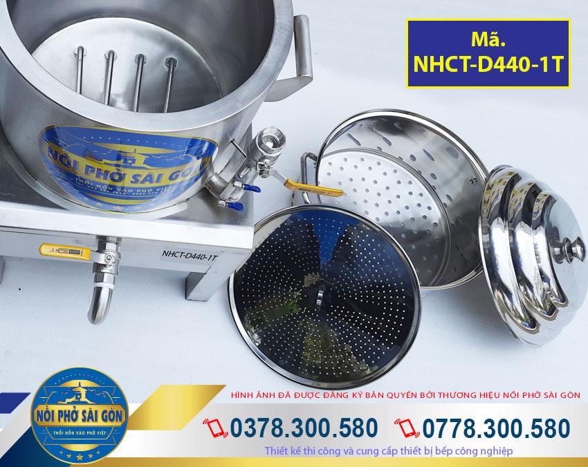 Thân nồi hấp cơm tấm bằng điện, nồi hấp điện công nghiệp với 2 lớp inox và một lớp foam cách nhiệt dày 3cm ở giữa.