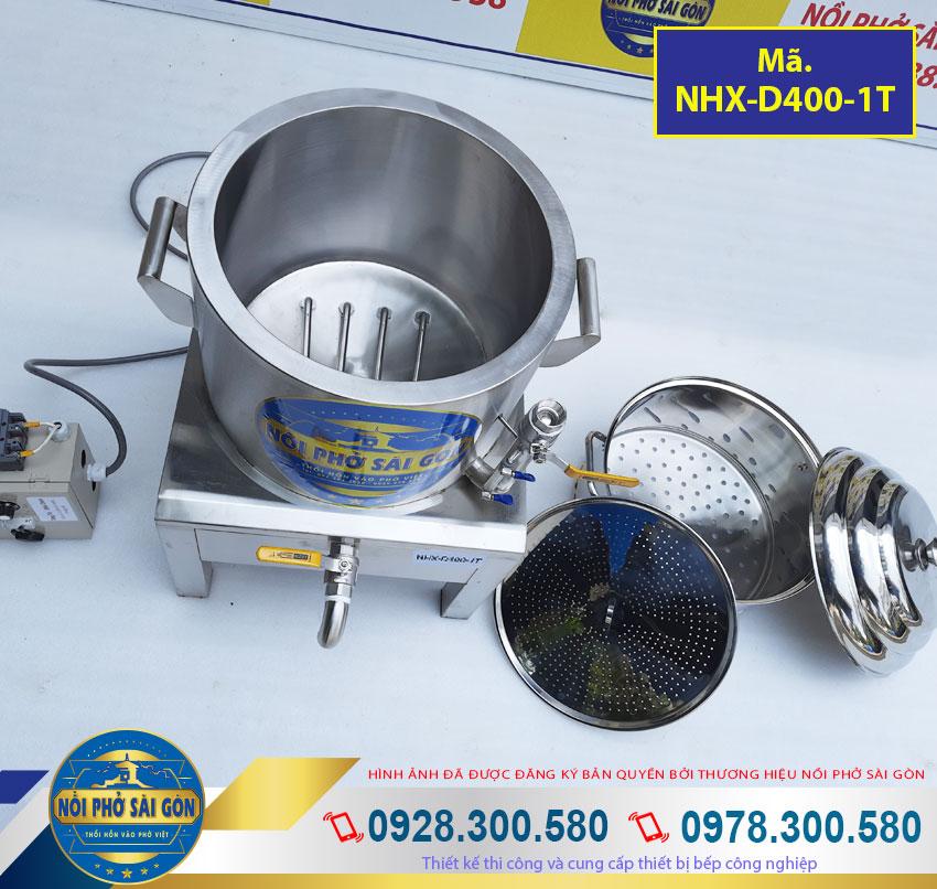 Bộ nồi xửng hấp nồi hấp xôi bằng điện, nồi đồ xôi công nghiệp. Với chất liệu inox 304 cao cấp, vệ sinh an toàn thực phẩm.