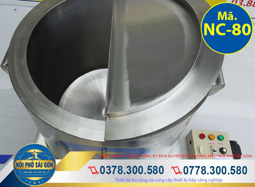 Thân nồi điện nấu cháo, nồi hầm cháo bằng điện, nồi nấu cháo dinh dưỡng công nghiệp với chất liệu inox 304 sáng bóng, không bị gỉ sét và có độ bền cao.