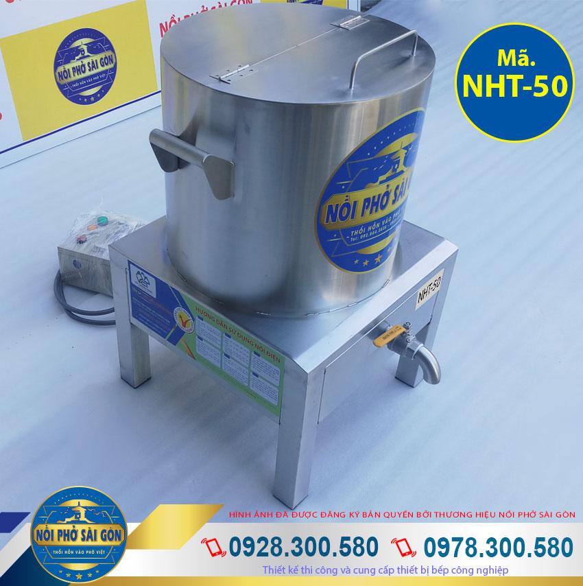Nồi điện nấu hủ tiếu 50l chất liệu inox 304 cao cấp sang trọng. Kiểu dáng đẹp sang trọng, tiết kiệm điện năng.