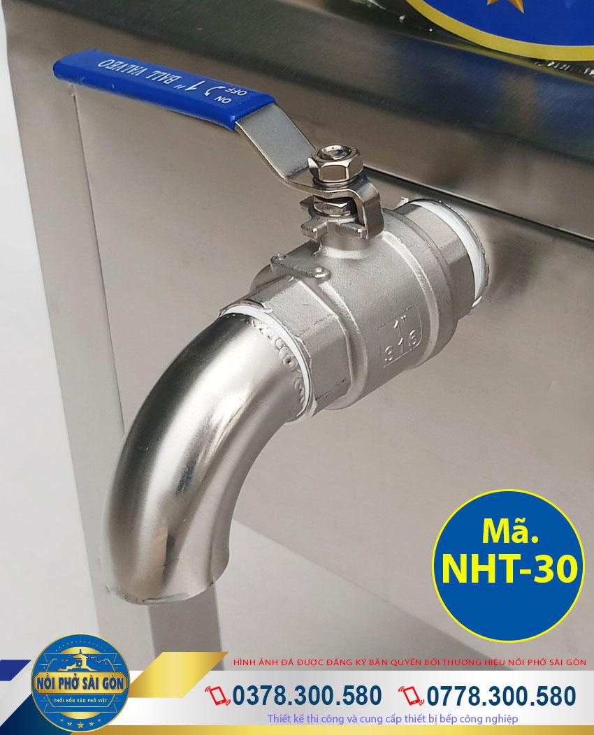 Thiết kế van xả nồi nấu hủ tiếu điện giúp người dùng dễ dàng lấy nước lèo. và vệ sinh nồi hủ tiếu nồi hầm xương nhanh chóng dễ dàng.