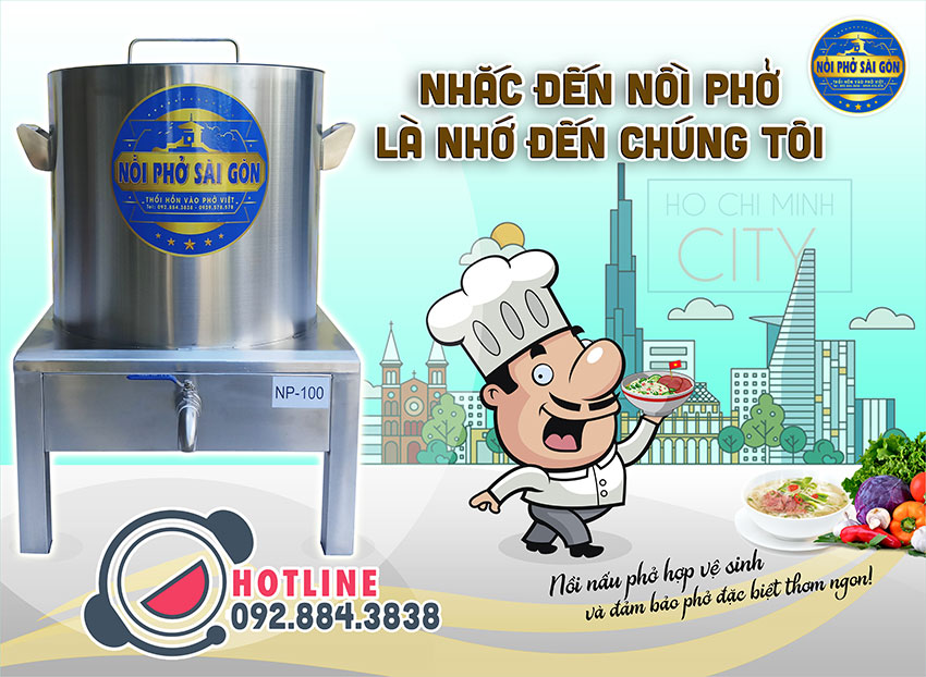 Thương hiệu Nồi Phở Sài Gòn - Địa chỉ mua nồi điện nấu phở uy tín tại TPHCM.