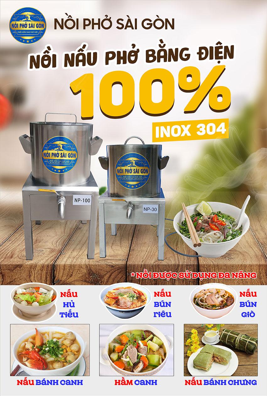 Nồi Phở Sài Gòn - Địa chỉ mua bộ nồi nấu phở bằng điện, nồi điện hầm xương nấu nước lèo, nồi nấu hủ tiếu bằng điện uy tín chất lượng nhất tại TPHCM.