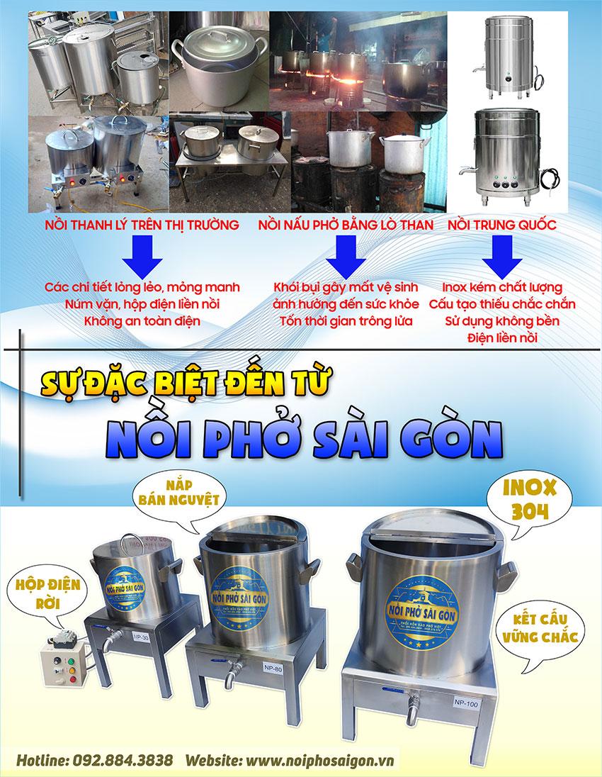 Tại sao nên chọn mua nồi nấu phở bằng điện thương hiệu Nồi Phở Sài Gòn?
