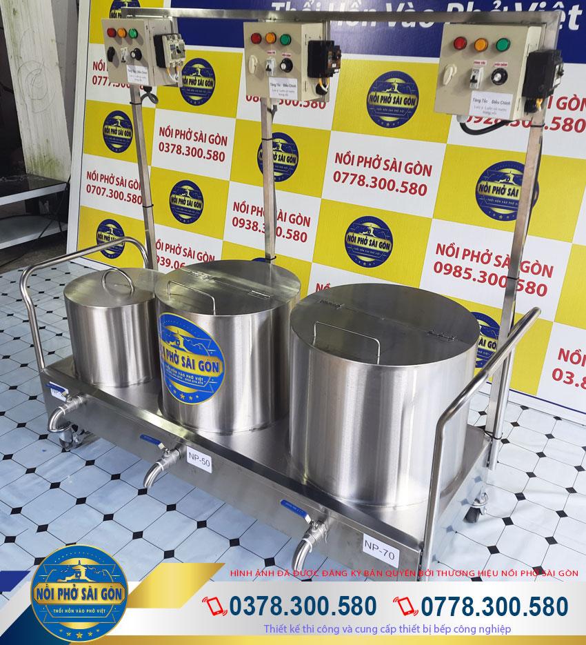 Bộ nồi inox nấu phở bằng điện, bộ nồi nấu phở bằng điện cao cấp tiện lợi dành cho không gian quán phở.