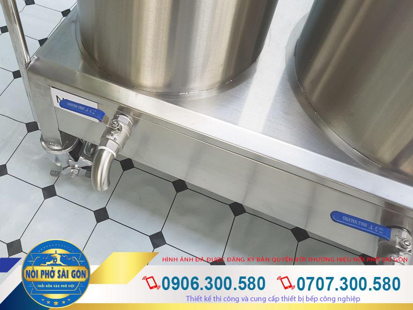 Thiết kế có van xả nước được đặt đáy nồi điện nấu phở sẽ giúp công việc vệ sinh của bạn dễ dàng hơn. Vệ sinh sạch sẽ sau mỗi lần sử dụng.