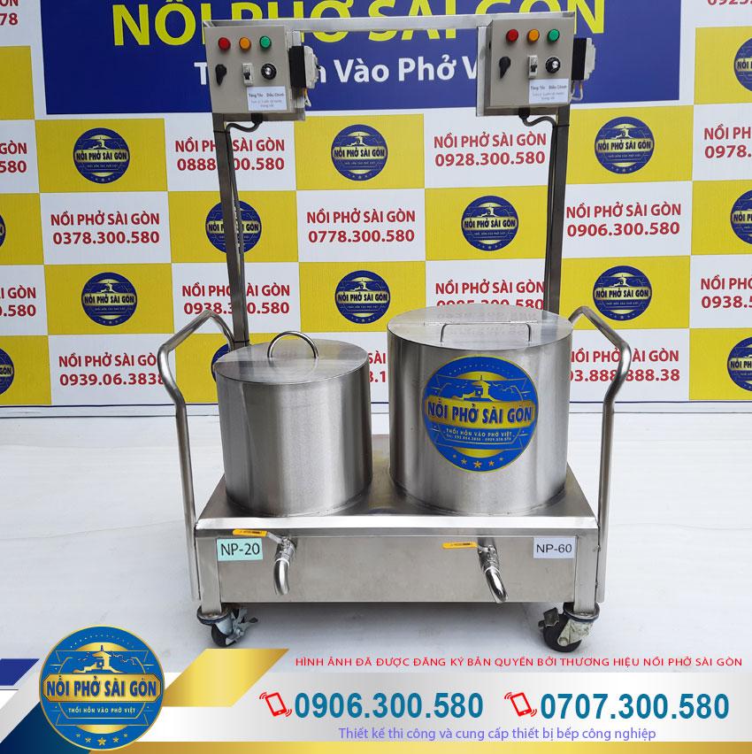 Bộ nồi điện nấu phở 20l-60l với kiểu dáng đẹp sang trọng, chất liệu inox 304 cao cấp.