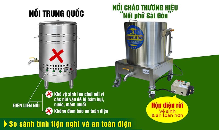 Mua nồi nấu cháo bằng điện loại nào tốt? Mua ngay nồi nấu cháo bằng điện công nghiệp của Nồi Phở Sài Gòn.